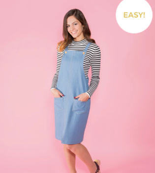 Tilly and the buttons sewing pattern 1014 Cleo 6 - 20 pinafore and dungaree dress