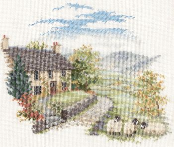 Derwent CON03 embroidery Countryside range High hill farm