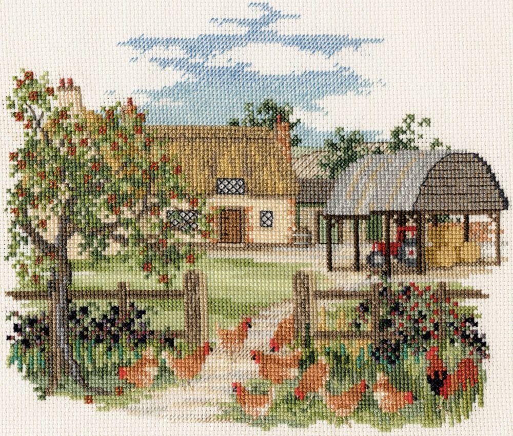 Derwent CON07 embroidery Countryside range Appletree farm
