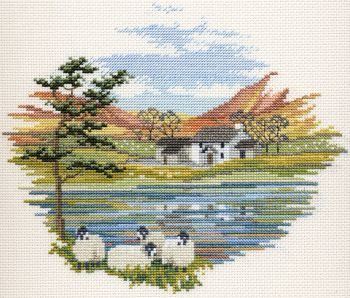 Derwent CON08 embroidery Countryside range Lakeside farm