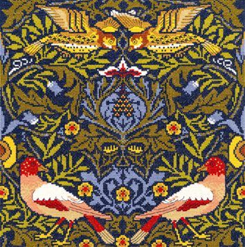 Bothy threads XAC02 embroidery counted cross stitch range - William Morris - Bird
