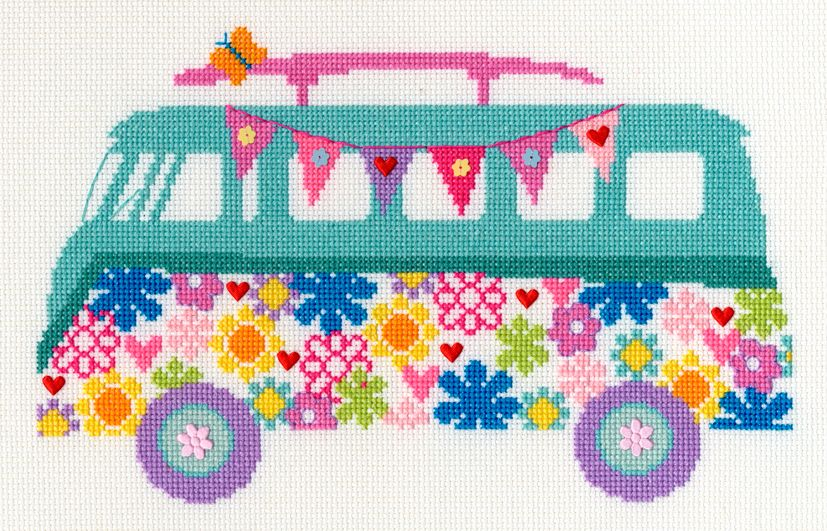 Bothy threads XB03 embroidery counted cross stitch range - Bouquet - Van Bo