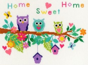 Bothy threads XB04 embroidery counted cross stitch range - Bouquet - Owl Bouquet