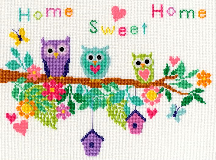 Bothy threads XB04 embroidery counted cross stitch range - Bouquet - Owl Bo
