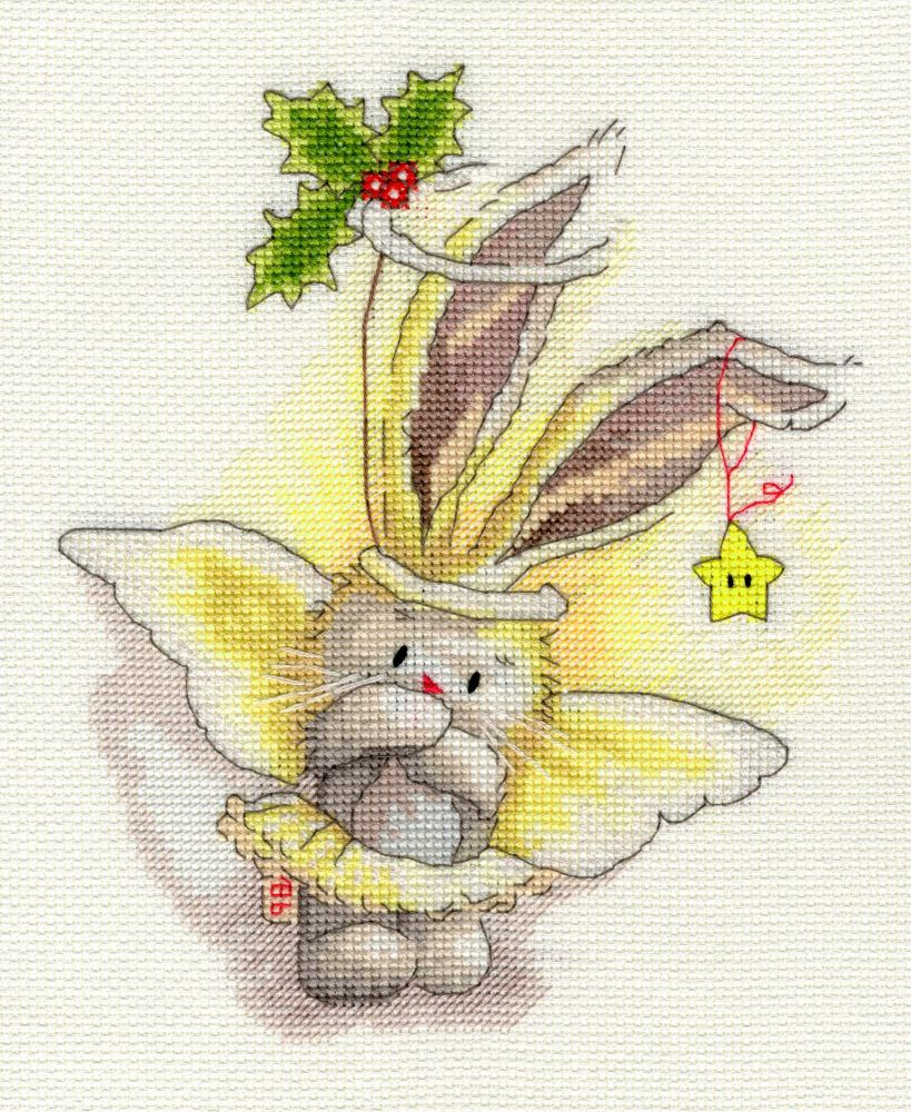 Bothy threads XBB04 embroidery counted cross stitch range - Bebunni - Angel