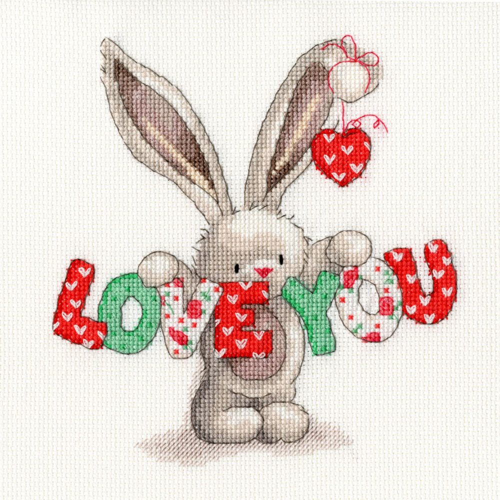 Bothy threads XBB09 embroidery counted cross stitch range - Bebunni - Love