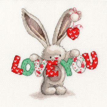 Bothy threads XBB09 embroidery counted cross stitch range - Bebunni - Love You