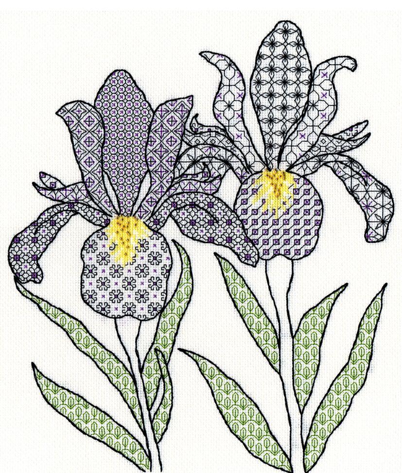 Bothy threads XBW05 embroidery counted cross stitch range - Blackwork - Iri