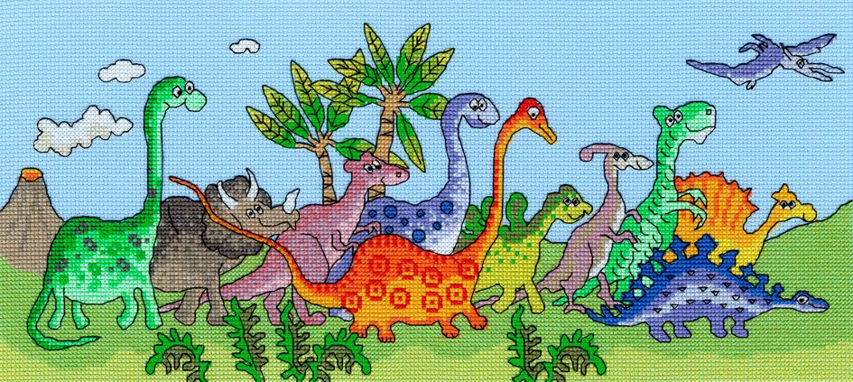 Bothy threads XJR22 embroidery counted cross stitch range - Fun - Dinosaur