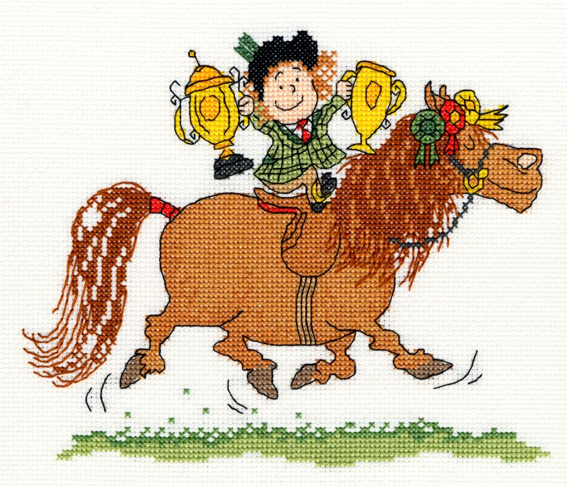 Bothy threads XT01 embroidery counted cross stitch range - Thelwell - Troph
