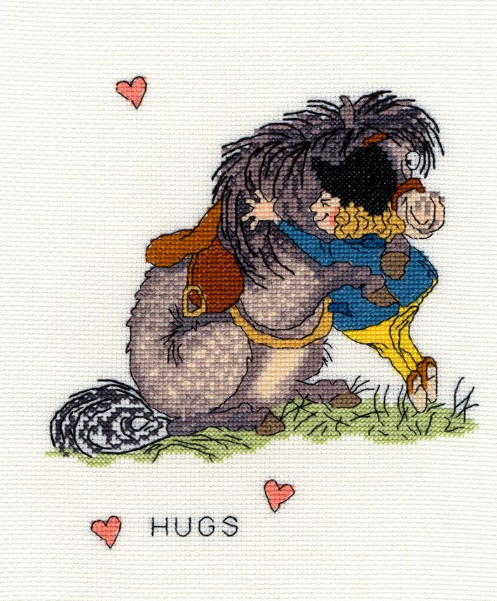 Bothy threads XT04 embroidery counted cross stitch range - Thelwell - Hugs