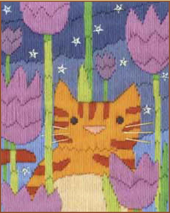 Bothy threads LSC02 embroidery Long stitch range - Funky Cats - Tiger