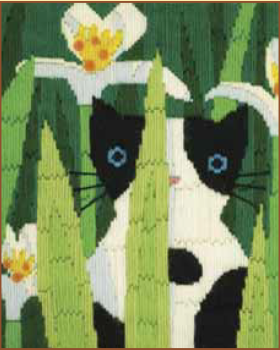 Bothy threads LSC03 embroidery Long stitch range - Funky Cats - Felix