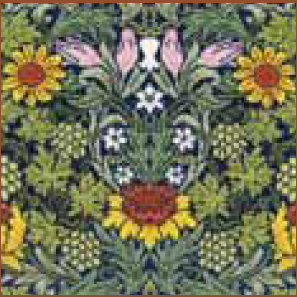 Bothy threads XAC04 embroidery counted cross stitch range - William Morris - Sunflowers