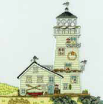 Bothy threads XSS06 embroidery counted cross stitch range - Samplers - New England - Light house