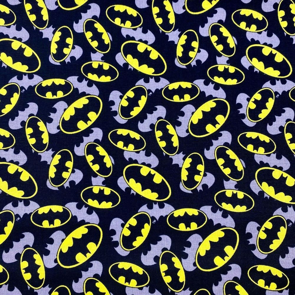 Batman logo Fabric 100% cotton
