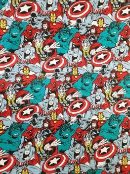 Marvel Power Heroes Comic Pop 100% Cotton Fabric
