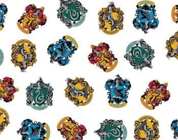 harry potter hogwarts crest houses fabric 100% cotton