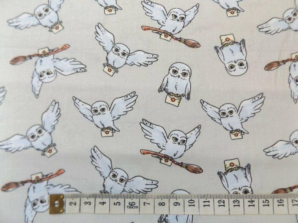 harry potter hogwarts hedwig owl fabric 100% cotton