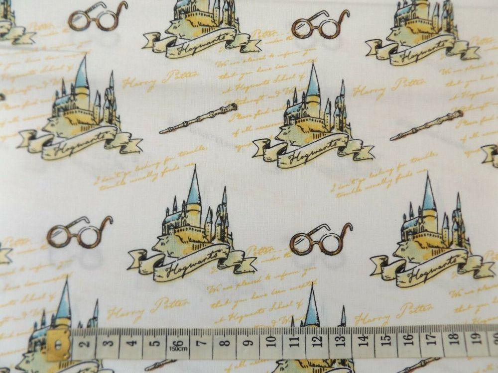 harry potter hogwarts  fabric 100% cotton