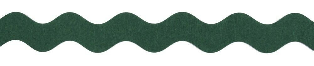 TT00135GRN: Giant Felt Ric Rac  35mm: Green