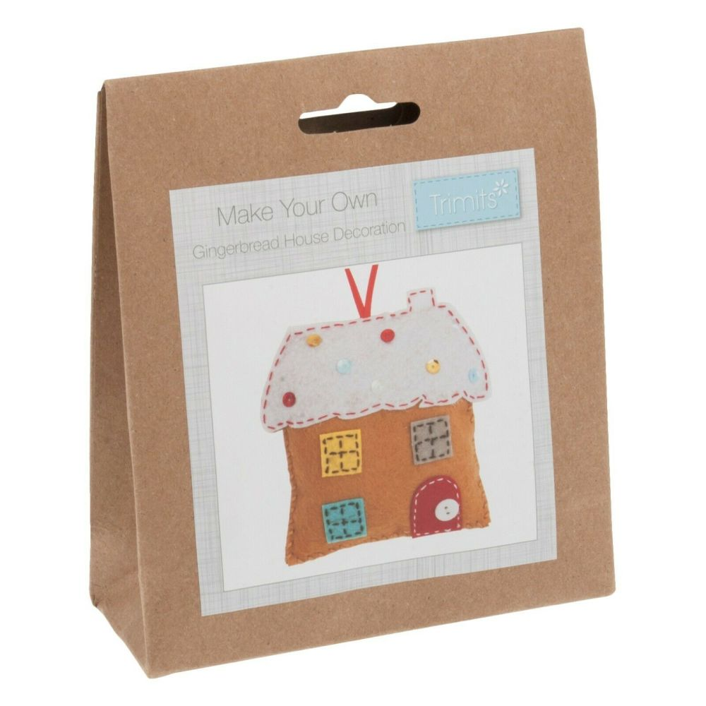 Felt kit make your own gingerbread house  by Trimits