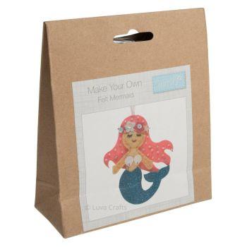 Felt kit make your own felt mermaid  by Trimits
