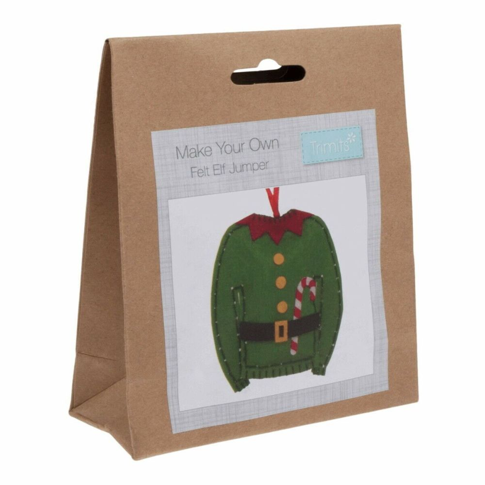 Felt kit make your own felt elf jumper  by Trimits
