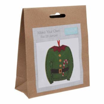 Felt kit make your own felt elf jumper  by Trimits