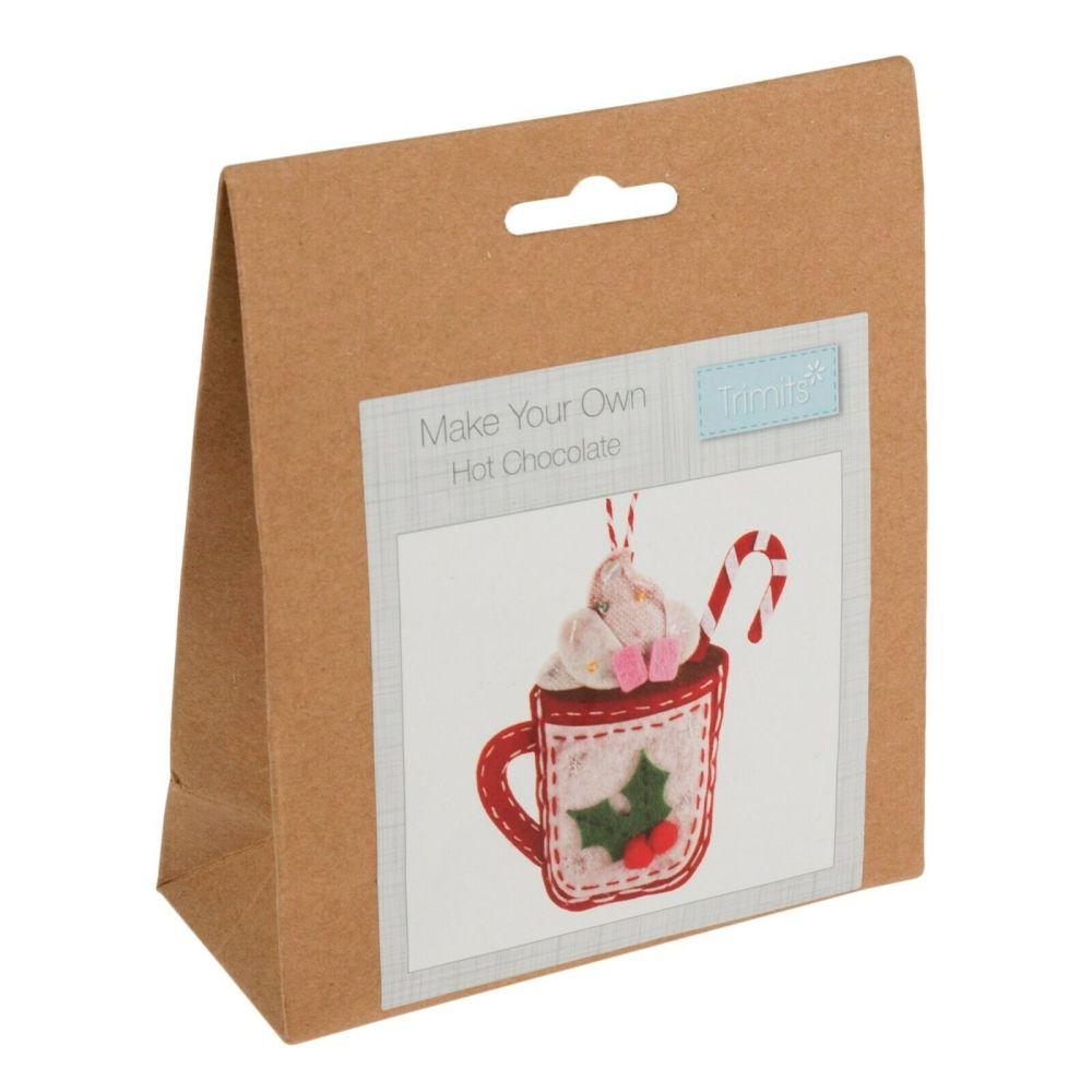 Felt kit make your own felt hot chocolate  by Trimits