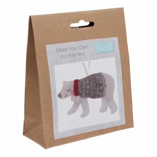 Felt kit make your own felt  polar bear  by Trimits