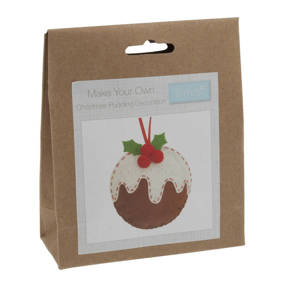 Felt kit make your own felt  christmas pudding decoration  by Trimits
