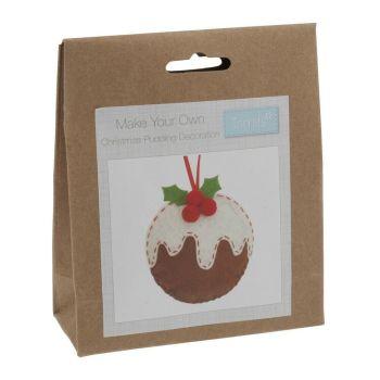Felt kit make your own felt  christmas pudding decoration  by Trimits