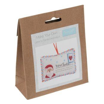 Felt kit make your own felt letter to santa decoration  by Trimits