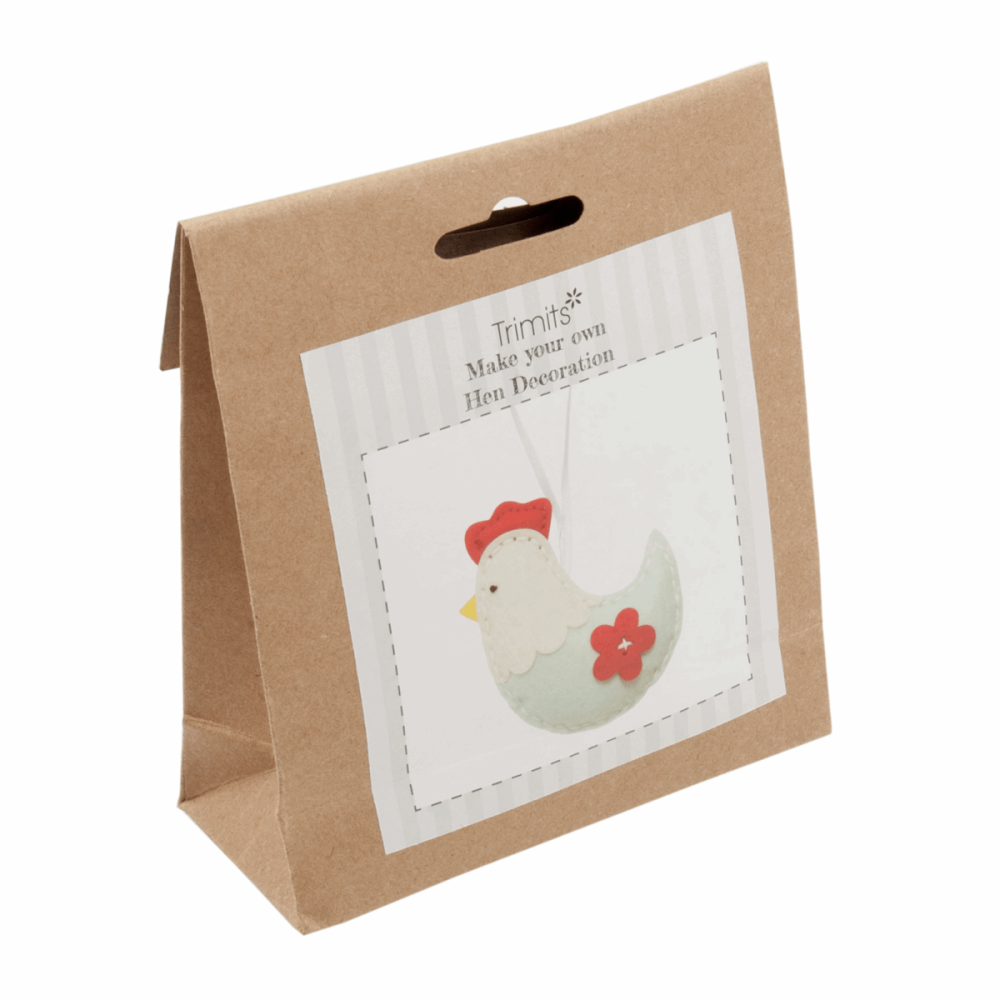 Felt kit make your own hen  decoration  by Trimits