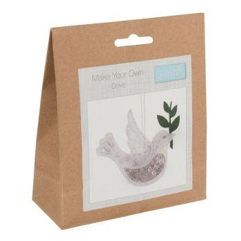 Felt kit make your own dove decoration  by Trimits