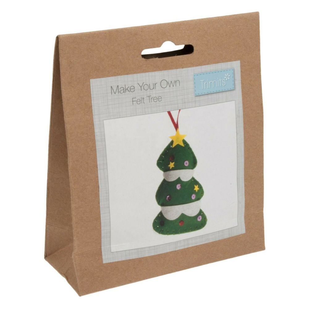 Felt kit make your own tree decoration  by Trimits