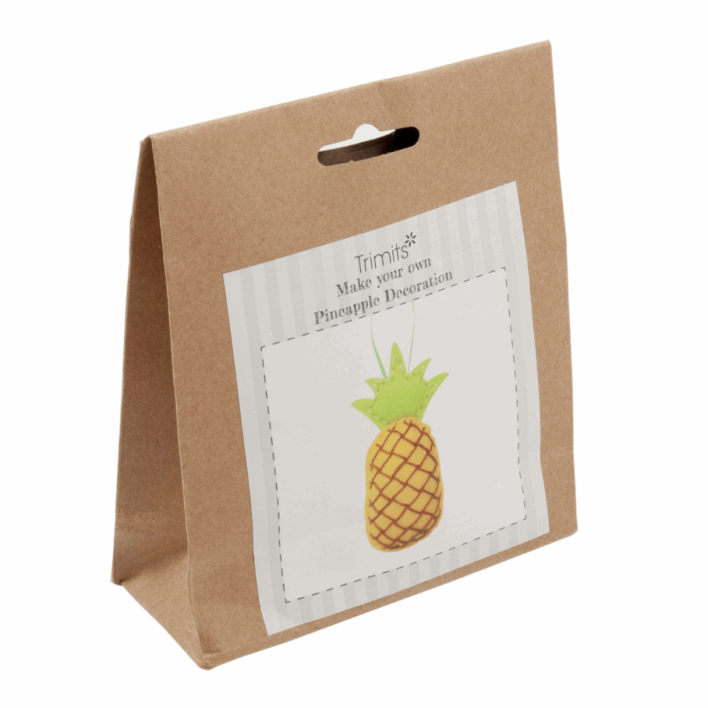 Felt kit make your own pineapple decoration  by Trimits