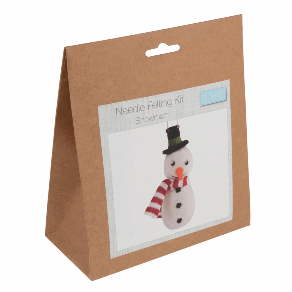 Needle Felting Kit snowman by trimits