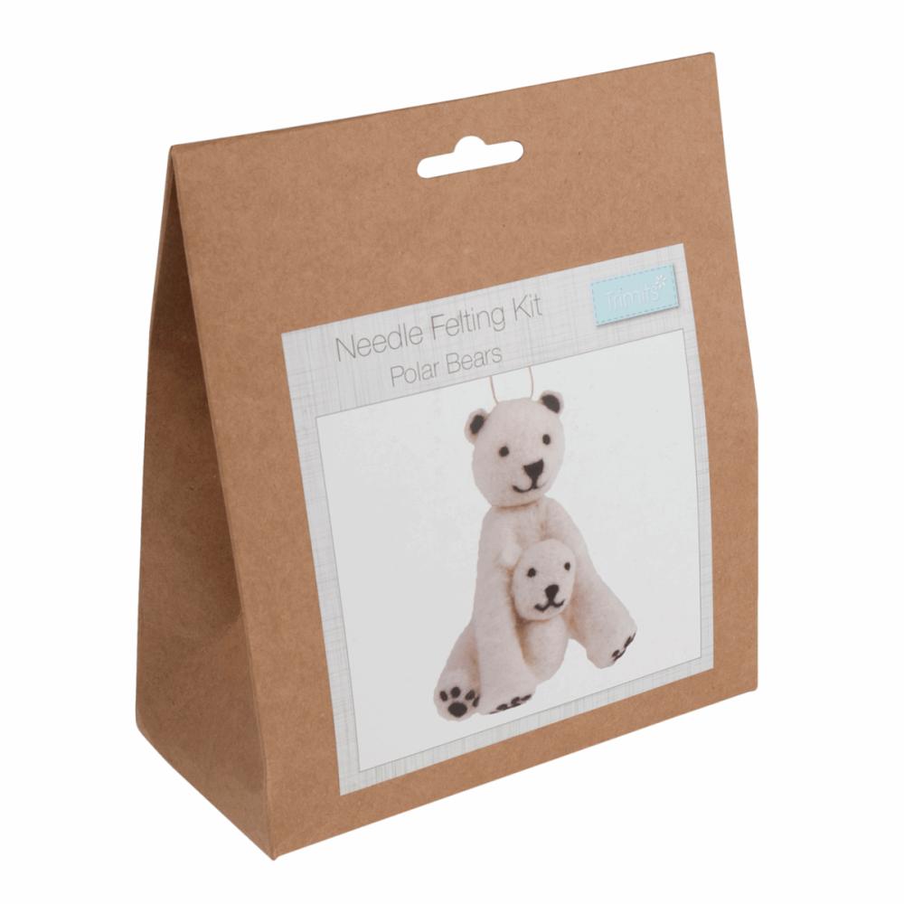 Needle Felting Kit polar bears by trimits