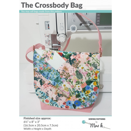 Mrs H Bag Pattern - THE CROSSBODY BAG including full size templates