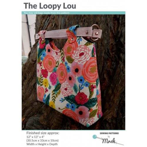 Mrs H Bag Pattern - THE LOOPY LOU BAG including full size templates