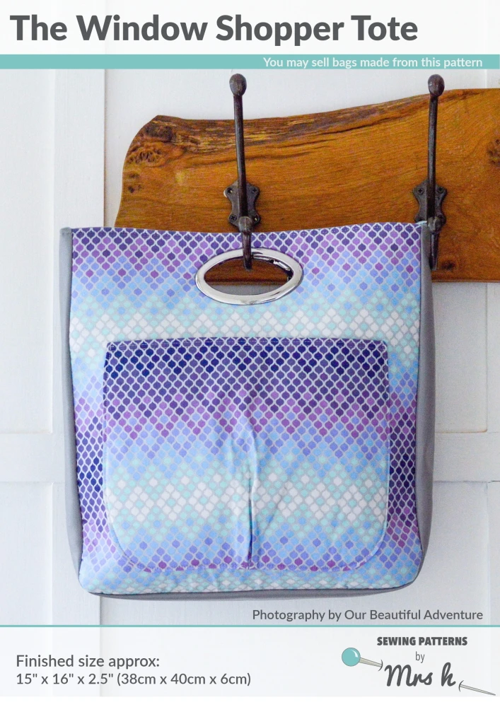 Mrs H Sewing Pattern The Window Shopper Tote Bag