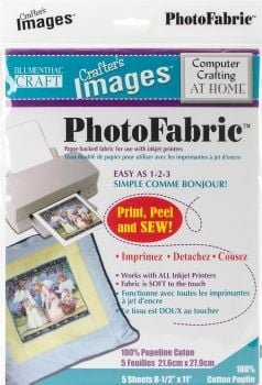 "Crafter's Images Sew-In Photofabric 8.5""X11"" 5/Pkg-100% Cotton Poplin -10601013"