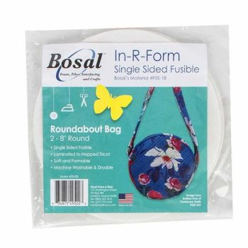"BOSAL IN-R-FORM SINGLE SIDED FUSIBLE ROUNDABOUT BAG WADDING 2 x 8"" ROUND PIECES"
