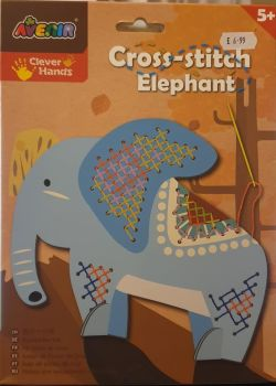 Avenir   childrens Cross Stitch  elephant – Coloured