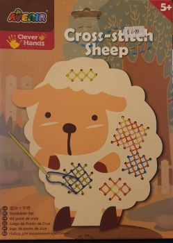 Avenir   childrens Cross Stitch sheep – Coloured