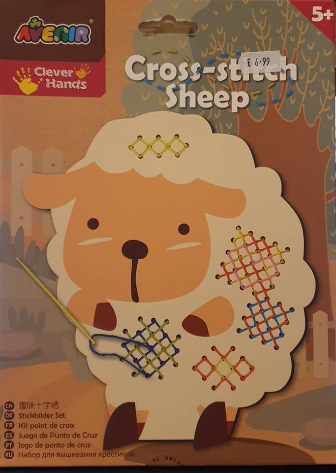 Avenir   childrens Cross Stitch sheep – Coloured