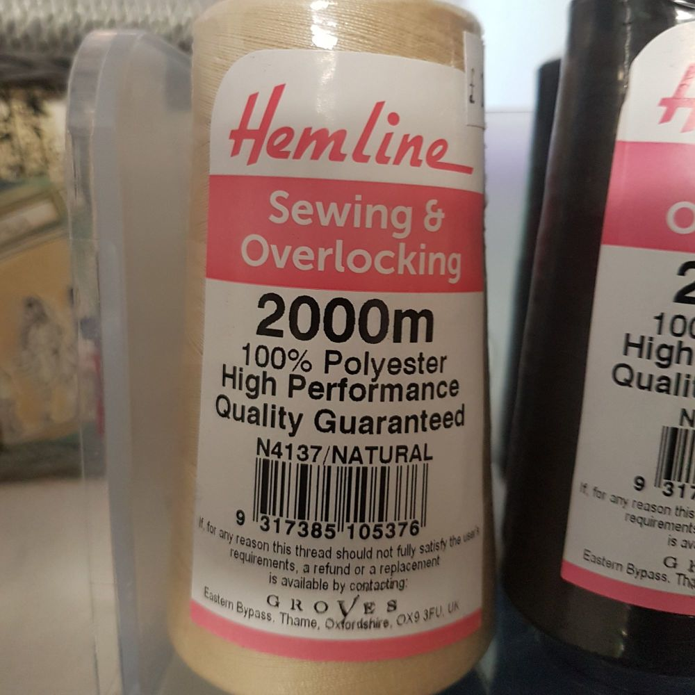 Hemline sewing and overlocking 2000m white