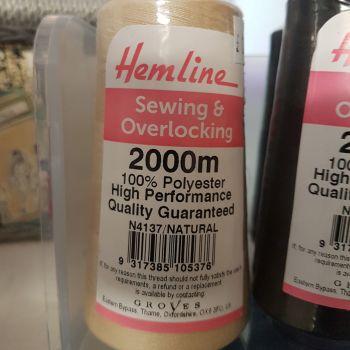 Hemline sewing and overlocking 2000m white